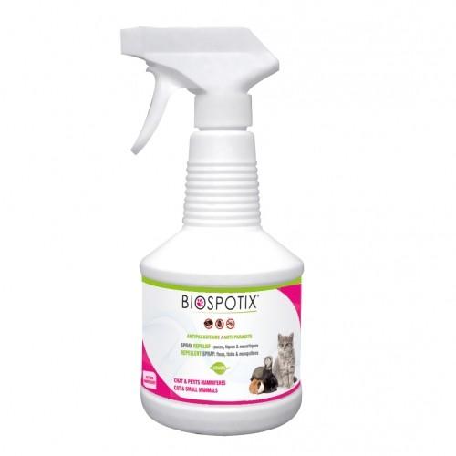 Tiques,  puces & vers - Biospotix Spray pour chat pour chats