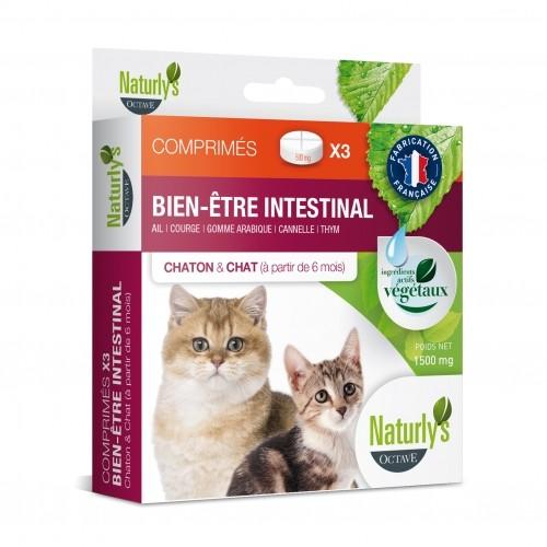 Tiques,  puces & vers - Comprimés Hygiène intestinale pour chats