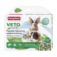Antiparasitaire rongeur et furet - Pipettes répulsives antiparasitaires Vetopure rongeurs et petits mammifères Beaphar