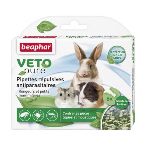 Sélection Printemps - Pipettes répulsives antiparasitaires Vetopure rongeurs et petits mammifères pour rongeurs