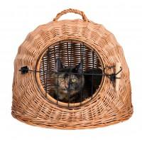 Caisse de transport pour chat et petit chien - Panier de transport en Osier Trixie