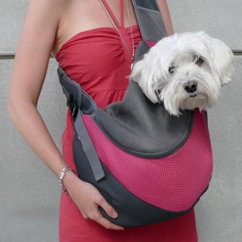 Transport du chien - Sac à bandoulière Pet Sling pour chiens