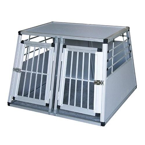 Transport du chien - Caisse de coffre en aluminium 2 portes pour chiens