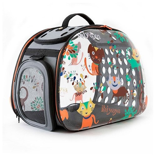 Transport du chat - Sac Ibi transparent pour chats