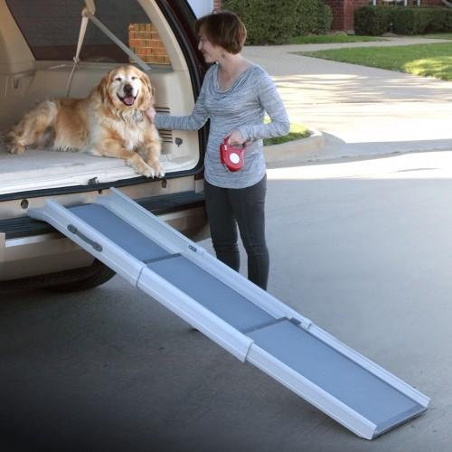 Accessoires chien - Rampe téléscopique 3 parties pour chiens