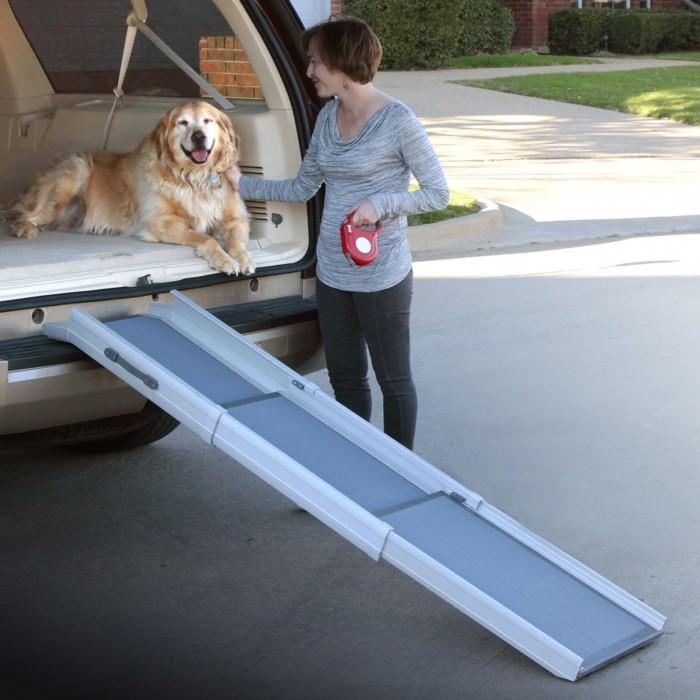 Transport du chien - Rampe téléscopique 3 parties pour chiens