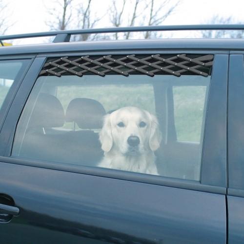 Transport du chien - Grille d'aération pour fenêtre auto pour chiens
