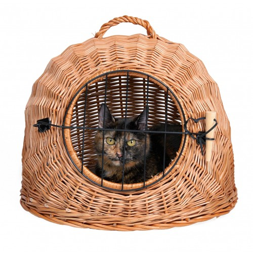 Transport du chat - Panier de transport en Osier pour chats