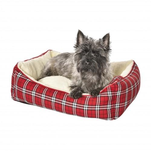 Panier pour chien et chat - Corbeille Tartan Rouge Bobby