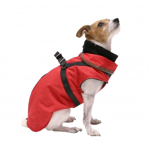 Ventes Privées - Manteau Trotte avec harnais intégré - Rouge pour chiens
