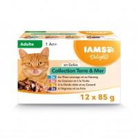 Sachet fraîcheur pour chat - IAMS Delights Adult - Lot 12 x 85 g Delights Adult - Lot 12 x 85 g