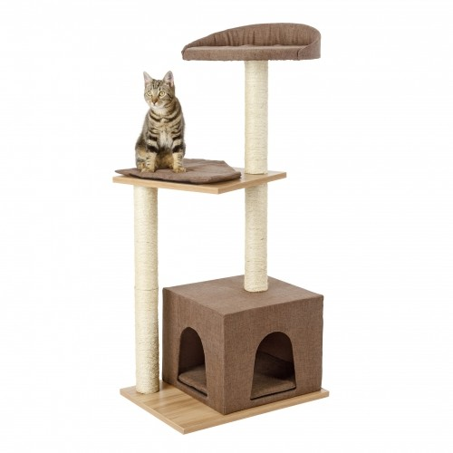 Arbre chat lifestyle arbre chat kerbl wanimo - Arbre a chat en bois naturel ...