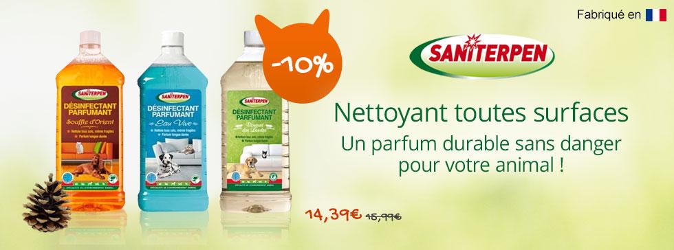 Saniterpen : détergent parfumant à -10%