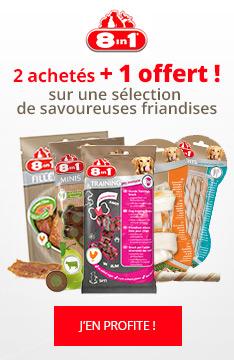 Friandises 8in1 : 2 achetés, 1 offert !