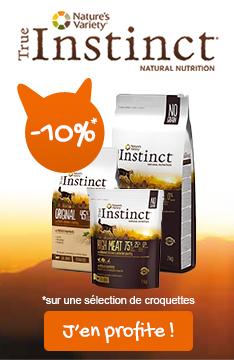 -10% sur les croquettes true instinct