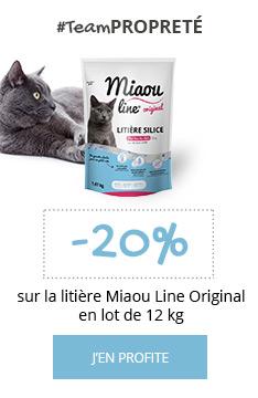 Litière Miaou Line : -20% sur le lot de 12 kg