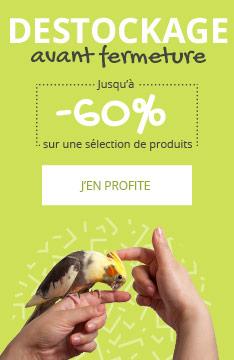 DÉSTOCKAGE : jusqu'à -60% sur une sélection pour oiseau