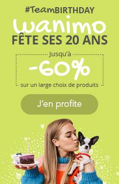 Jusqu'à -60% sur un large choix de produits pour nos 20 ans !