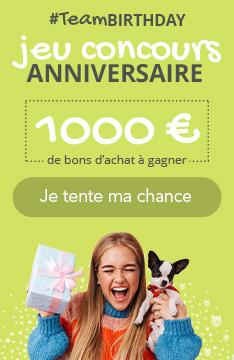 1000€ de bons d'achat à gagner à notre jeu concours anniversaire !