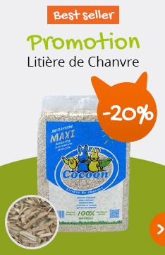 -20% sur la litière de chanvre Cocoon