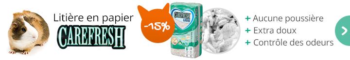 Profitez de la litière Carefresh à -15%, vite !