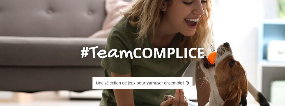 #TeamCOMPLICE : nous vous proposons une sélection de jeux pour jouer avec votre boule de poils