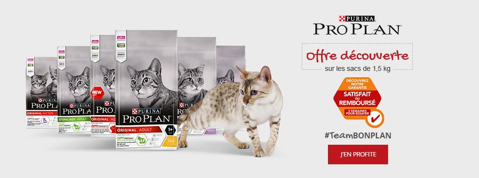 Croquettes chat Proplan : satisfait ou remboursé !