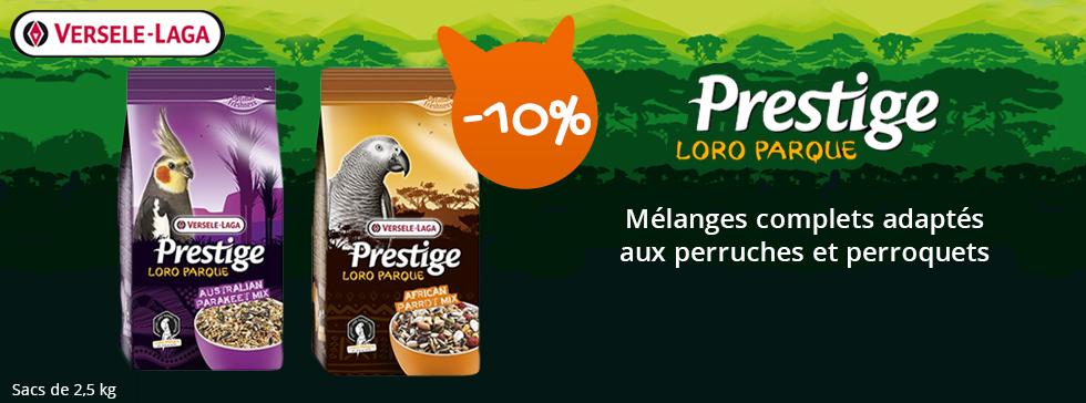 10% sur les croquettes Loro parque Versele Laga