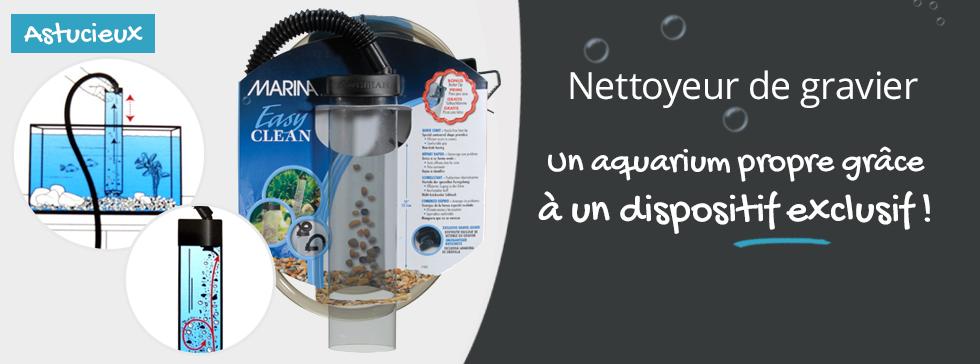 Pratique le nettoyeur de gravier pour votre aquarium