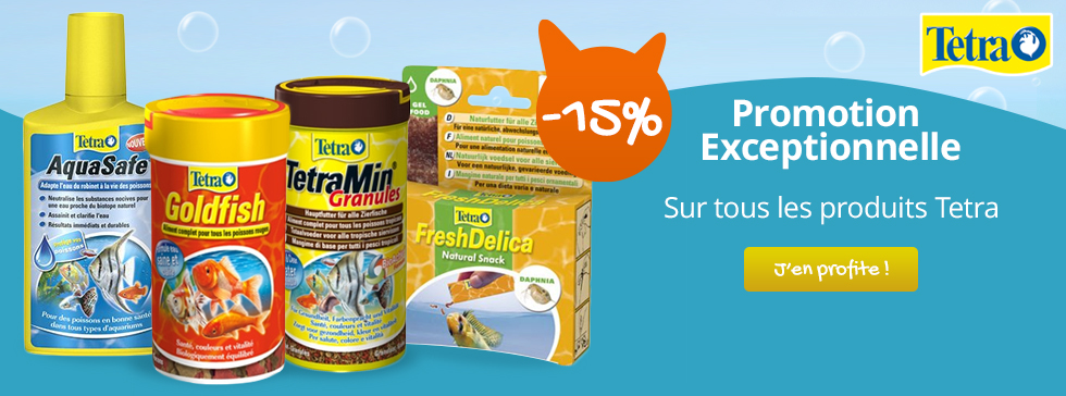 -15% sur tous les produits Tetra pour vos poissons