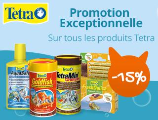 -15% sur les produits tetra pour votre poisson