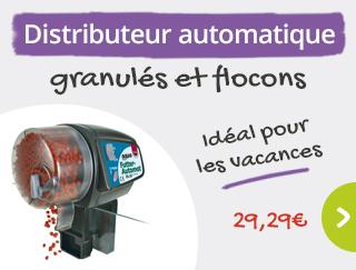 Astucieux : distributeur automatique de nourriture pour vos poissons