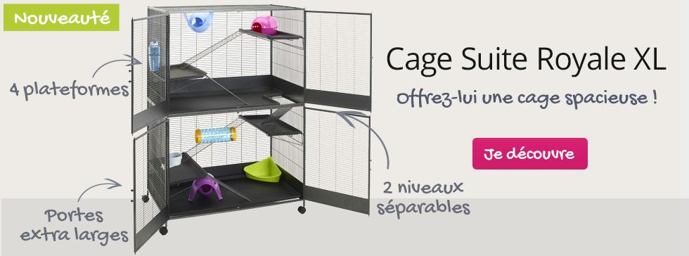 Nouveau : offrez lui une cage spacieuse et luxueuse !