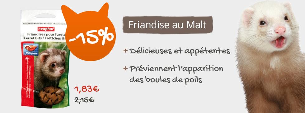 15% sur les friandises au malt beaphar