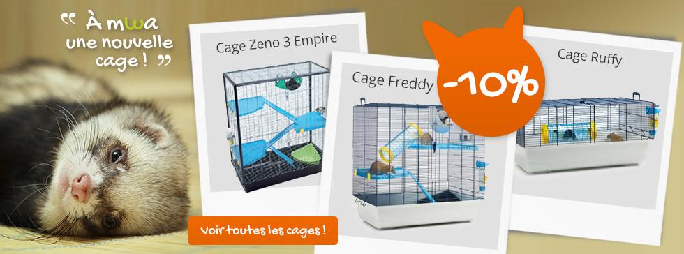 Envie de changer de cage pour votre furet : c'est le moment !