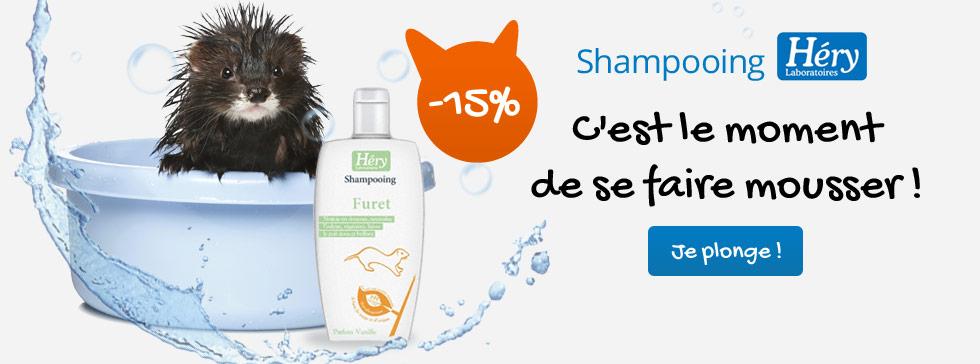 -15% sur les shampooing Héry pour furets