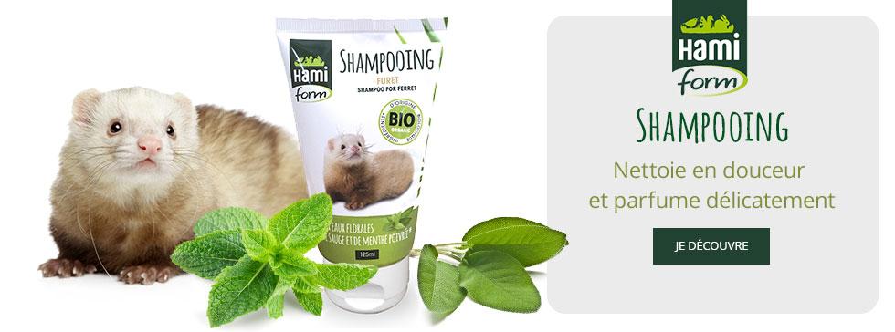 Découvrez le shampooing bio Hamiform pour votre furet !