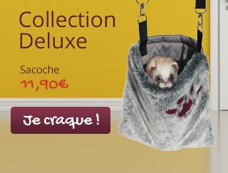 Découvrez la collection de couchage Deluxe pour votre furet