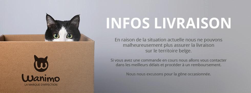 INFOS LIVRAISON : livraison plus assurée malheureusement