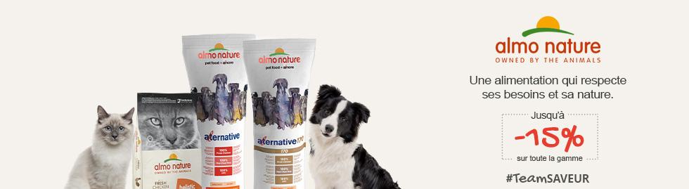 Jusqu'à -15 % sur la marque Almo Nature : une alimentation qui respecte ses besoins et sa nature
