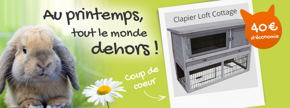 -30% de réduction sur le clapier loft cottage