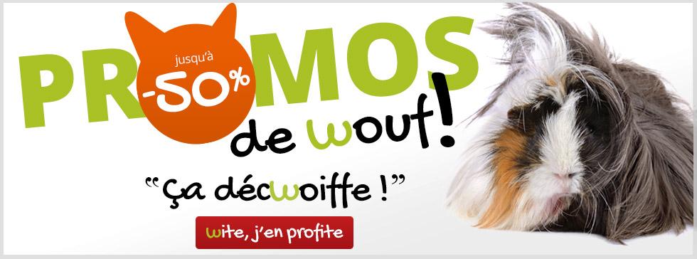 Promos de Wouf pour rongeur jusqu'à 50%