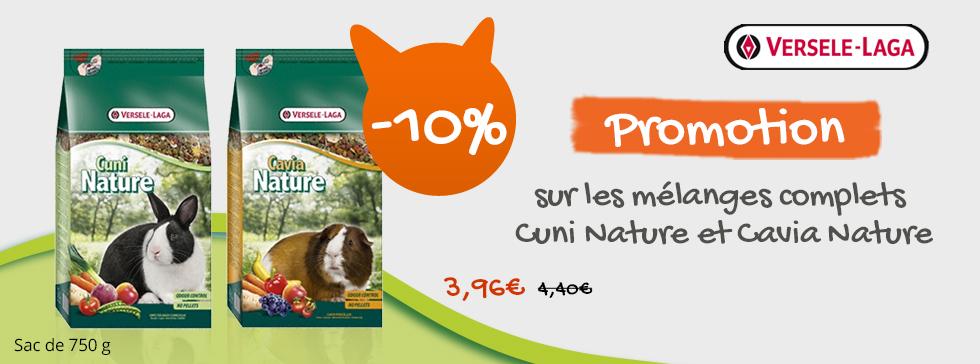 -10% sur les mélanges cuni nature versele laga