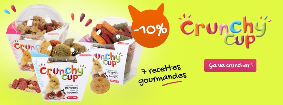 10% de réduction sur les friandises crunchy cup