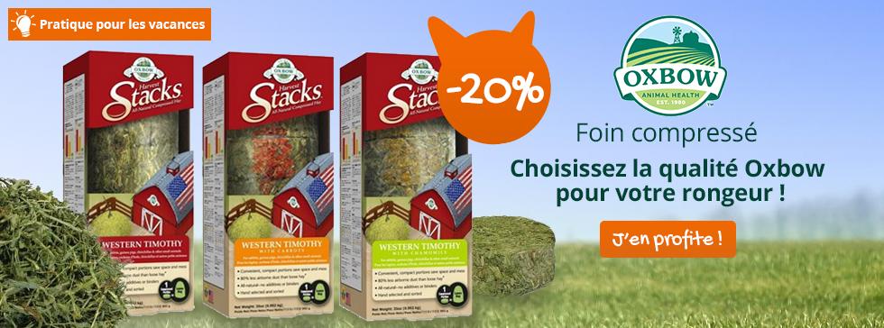 -20% sur les foins compressés Harvest Stack