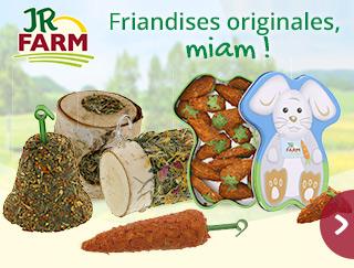 Découvrez les friandises originales JRFarm pour votre rongeur