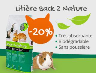 Profitez de la litière Back 2 Nature à -20%