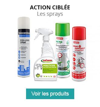 Les sprays : pour une action ciblée