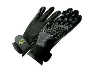 Paire de gants de toilettage Hands'on pour chien et chat