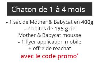 Coffret pour chaton de 1 à 4 mois